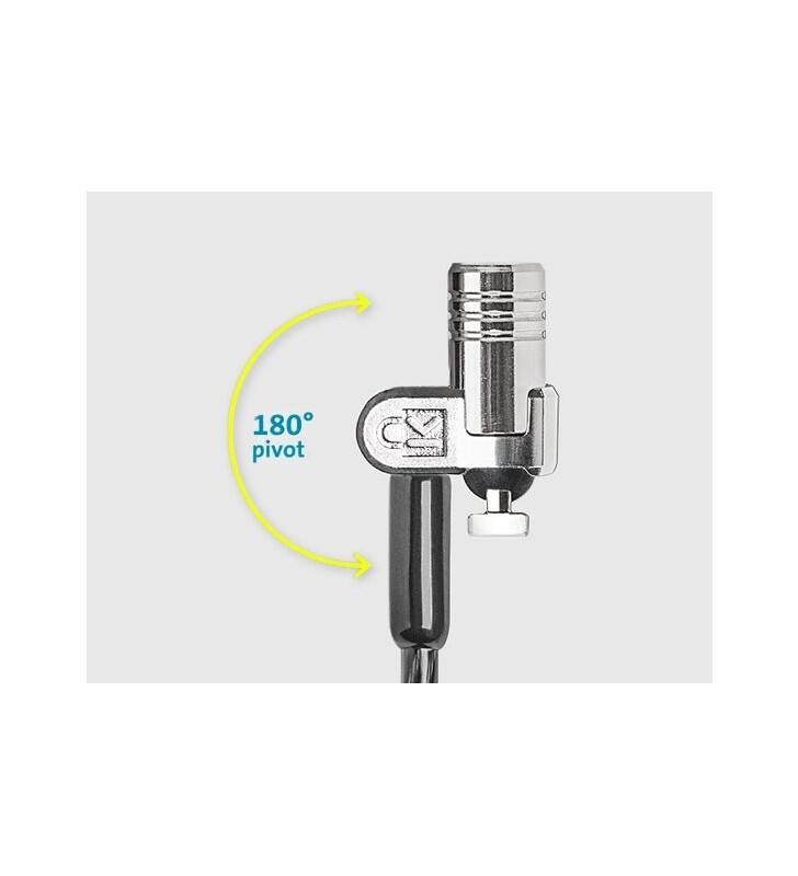 Kensington MicroSaver 2.0 cabluri cu sistem de blocare Negru, Din oţel inoxidabil