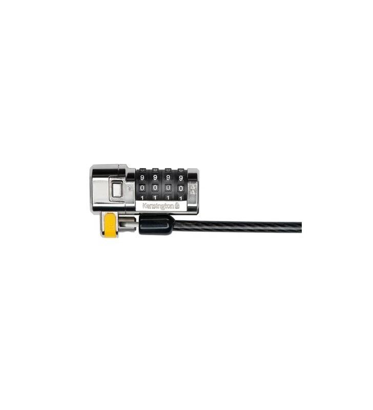 Kensington K64697EU cabluri cu sistem de blocare Negru, Din oţel inoxidabil 1,5 m