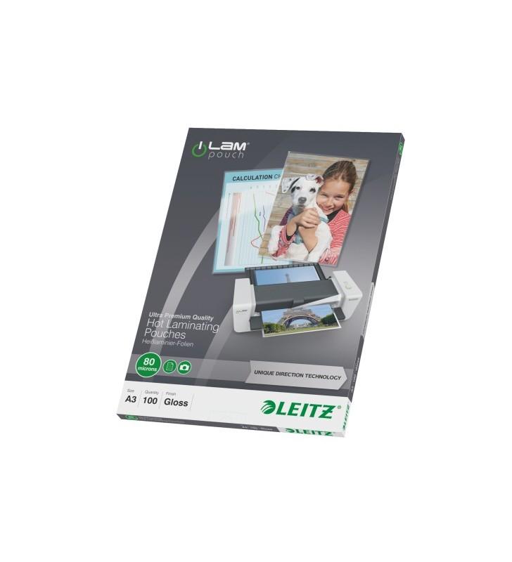 Leitz 74850000 folii de laminat tip plic 100 buc.