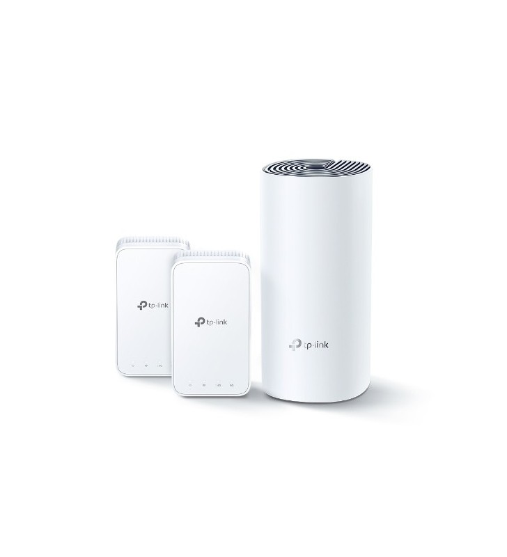 TP-LINK DECO E3(2-PACK) router wireless Bandă dublă (2.4 GHz  5 GHz) Fast Ethernet Gri, Alb