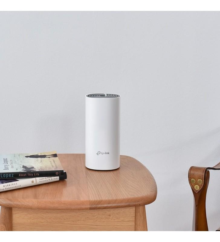TP-LINK Deco E4 2-pack router wireless Bandă dublă (2.4 GHz  5 GHz) Fast Ethernet Alb