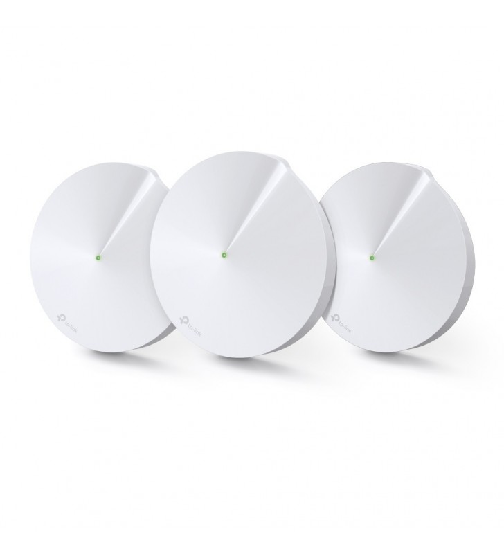 TP-LINK Deco M9 Plus(3-pack) Alb Intern Tri-band (2.4 GHz   5 GHz   5 GHz) Wi-Fi 5 (802.11ac) 2