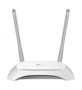 TP-LINK TL-WR840N router wireless Bandă unică (2.4 GHz) Fast Ethernet Gri, Alb