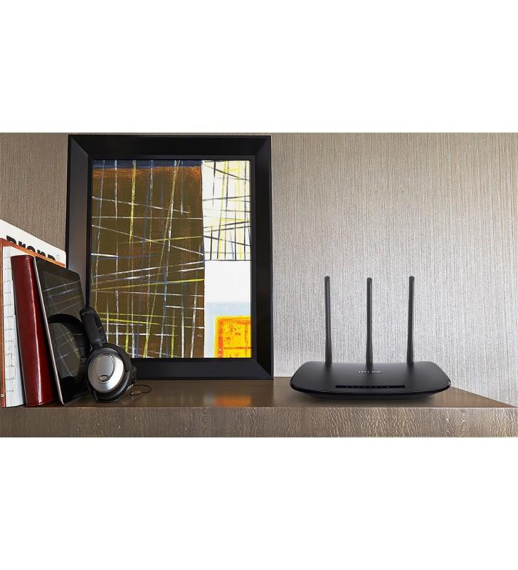 TP-LINK TL-WR940N router wireless Bandă unică (2.4 GHz) Fast Ethernet Negru