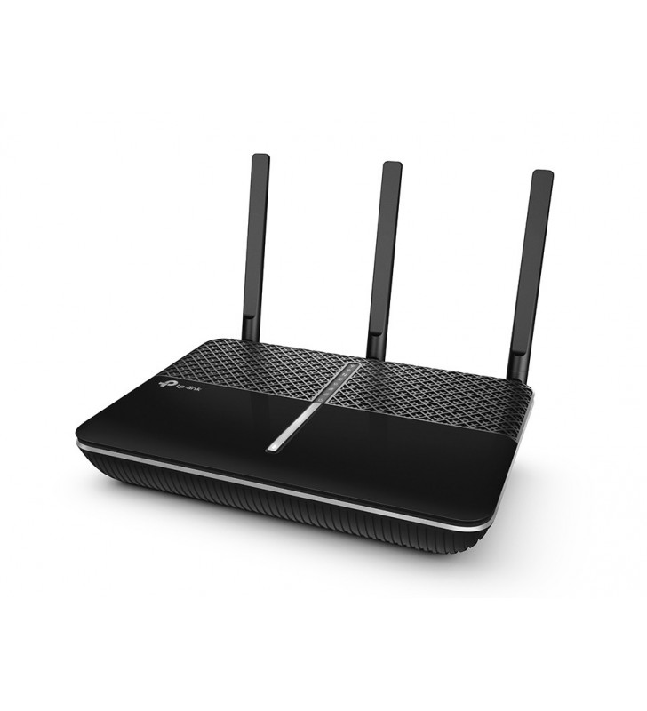 TP-LINK Archer C2300 router wireless Bandă dublă (2.4 GHz  5 GHz) Gigabit Ethernet Negru