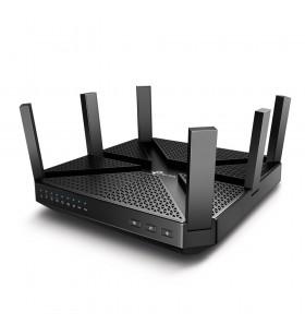 TP-LINK Archer C4000 router wireless Tri-band (2.4 GHz   5 GHz   5 GHz) Gigabit Ethernet Negru