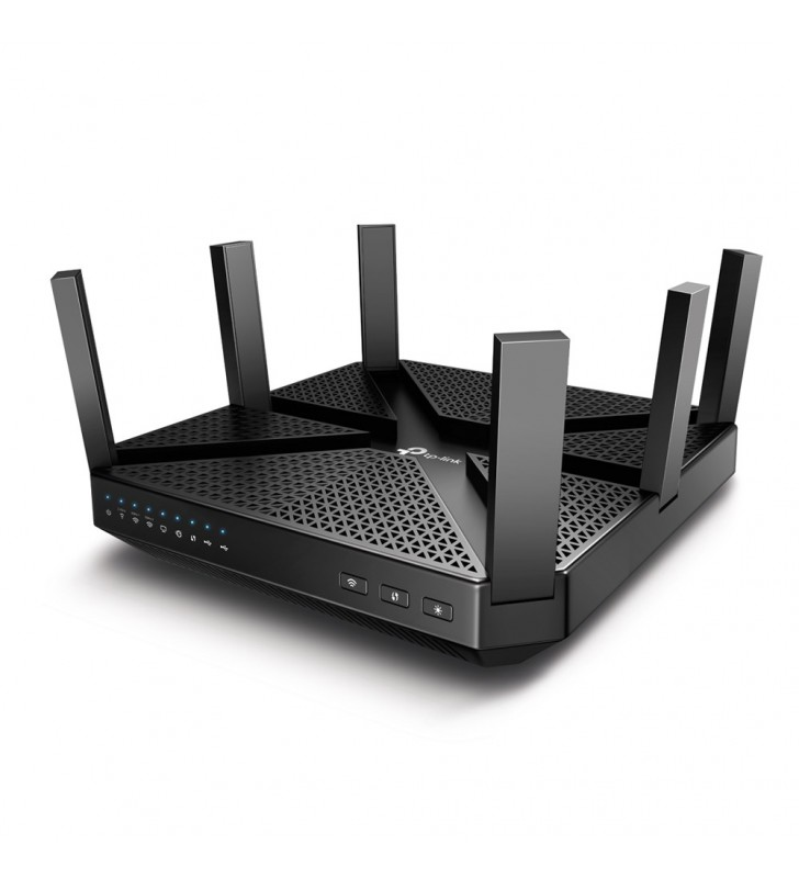 TP-LINK Archer C4000 router wireless Tri-band (2.4 GHz   5 GHz   5 GHz) Gigabit Ethernet Negru