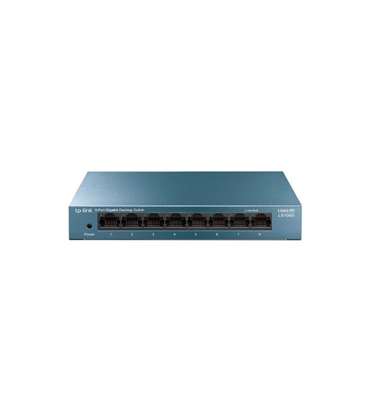 TP-LINK LS108G switch-uri Fara management Gigabit Ethernet (10 100 1000) Albastru