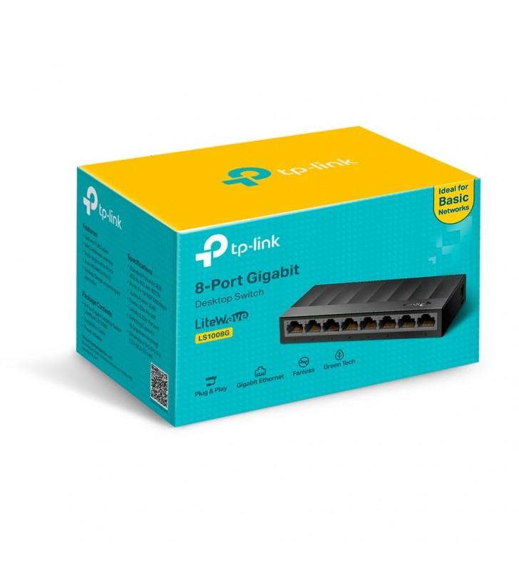 TP-LINK LS1008G switch-uri Fara management Gigabit Ethernet (10 100 1000) Negru