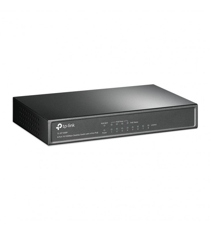 TP-LINK TL-SF1008P switch-uri Fara management Fast Ethernet (10 100) Masline Power over Ethernet (PoE) Suport