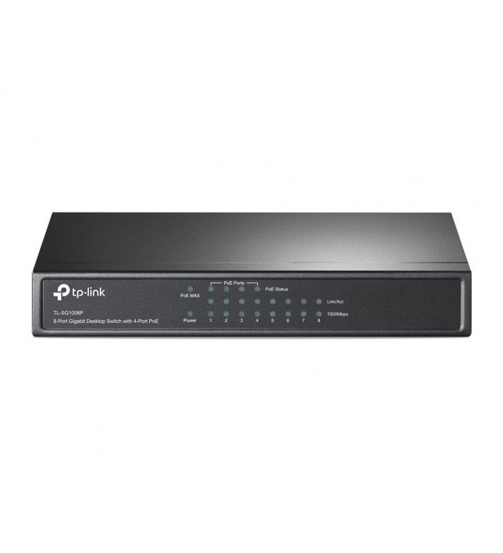 TP-LINK TL-SG1008P switch-uri Gigabit Ethernet (10 100 1000) Alune Power over Ethernet (PoE) Suport