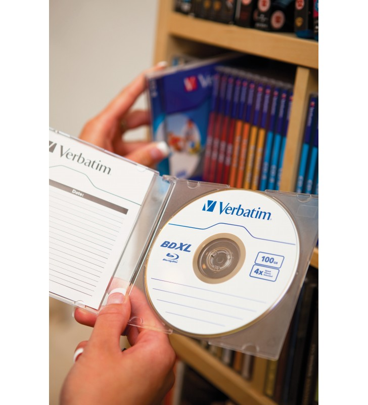 Verbatim 43789 discuri Blu-Ray blank BD-R 100 Giga Bites 5 buc.