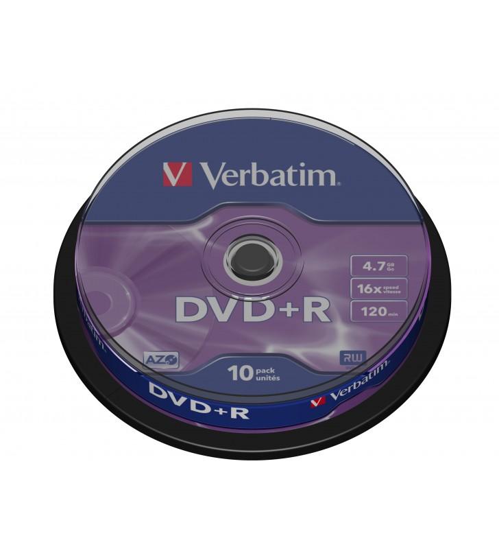 Verbatim DVD+R Matt Silver 4,7 Giga Bites 10 buc.
