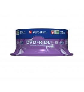 Verbatim DVD+R Double Layer 8x Matt Silver 25pk Spindle 8,5 Giga Bites DVD+R DL 25 buc.