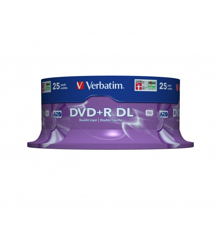 Verbatim DVD+R Double Layer 8x Matt Silver 25pk Spindle 8,5 Giga Bites DVD+R DL 25 buc.