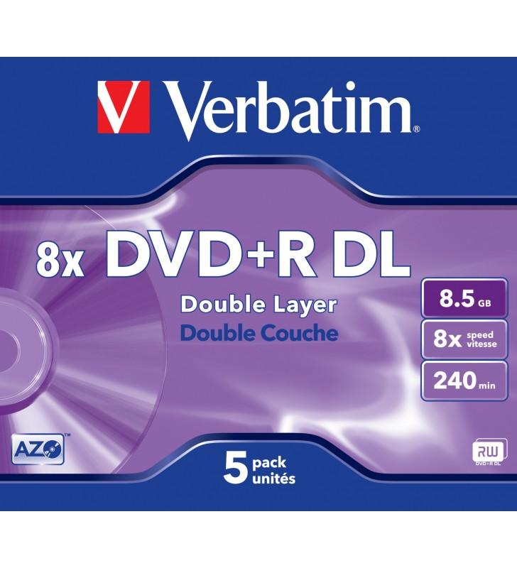 Verbatim 43541 DVD-uri blank 8,5 Giga Bites DVD+R DL 5 buc.