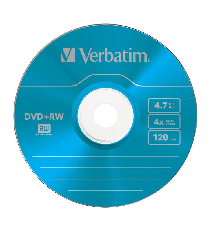 Verbatim DVD+RW Colours 4,7 Giga Bites 5 buc.