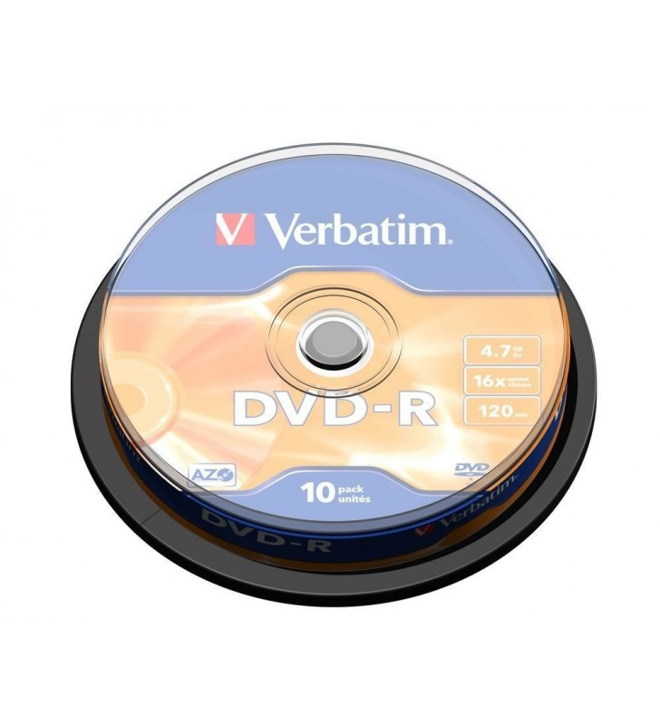 Verbatim DVD-R Matt Silver 4,7 Giga Bites 10 buc.