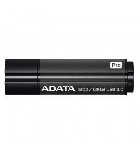 "USB 3.1 ADATA 128GB, carcasa din aluminiu, Grey, ""S102 Pro"" ""AS102P-128G-RGY""(include timbru verde 0.01 lei)"