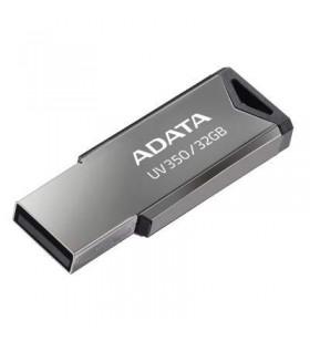 "USB 3.2 Gen 1 ADATA  32GB, carcasa metalica, gaura snur, Silver ""AUV350-32G-RBK""(include timbru verde 0.01 lei)"