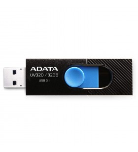 "USB 3.2 Gen 1 ADATA  32GB, clasic, conector USB retractabil, Black &amp Blue, ""AUV320-32G-RBKBL""(include timbru verde 0.01 lei"