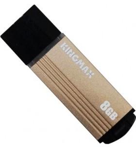 "USB 2.0 KINGMAX   8GB MA-06, compact, aliaj aluminiu, gold ""KM08GMA06Y"" ""KM-MA06-8GB/Y"" (include timbru verde 0.01 lei)"
