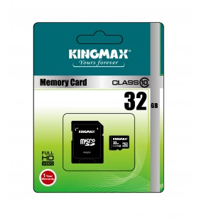 "MicroSD KINGMAX SDHC  32GB (Class 10) + adaptor SD, ""KM32GMCSDHC101A-1"" ""KM-PS04-32GB"""
