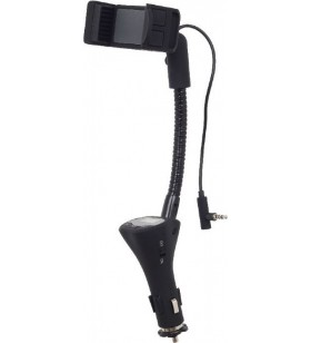 SUPORT AUTO GEMBIRD pt. SmartPhone, Car Holder, incarcator auto, de la 55 pana la 85mm, flexibil, FM, handsfree,  retail box, bl