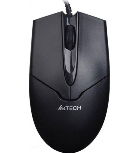 "MOUSE A4Tech USB optic, 1000dpi, 3 butoane, 1 rotita scroll (4 directii), black, metal feet, ""OP-550NU-1"" (include timbru verd"