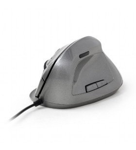 "Ergonomic 6-button optical mouse, spacegrey ""MUS-ERGO-02"""