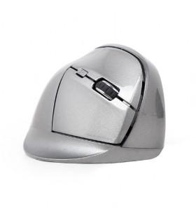 "Ergonomic 6-button wireless optical mouse, spacegrey ""MUSW-ERGO-02"""
