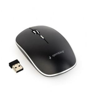"MOUSE GEMBIRD wireless, 1600dpi, 4 butoane, 1 rotita scroll, black ""MUSW-4B-01"" (include timbru verde 0.1 lei)"