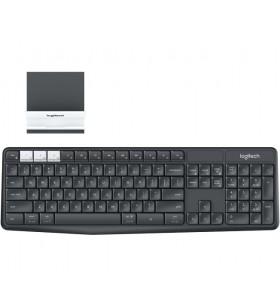 Logitech K375s tastaturi RF Wireless + Bluetooth QWERTY US International Grafit, Alb