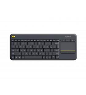 Logitech K400 Plus tastaturi RF fără fir QWERTY Olandeză Negru