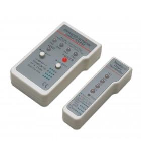 Intellinet 351898 dispozitiv de testare cabluri de rețea Tester cablu UTP STP Gri