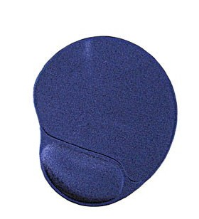 "Gel mouse pad with wrist support, blue ""MP-GEL-B"""