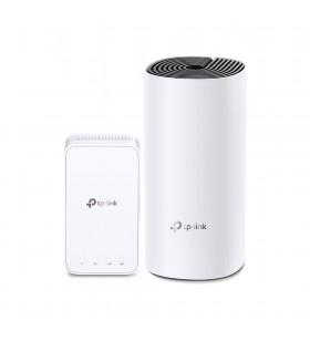 TP-LINK Deco M3 (2-Pack) router wireless Bandă dublă (2.4 GHz  5 GHz) Gigabit Ethernet Negru, Alb