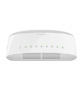 D-Link DGS-1008D E switch-uri Fara management Gigabit Ethernet (10 100 1000) Alb