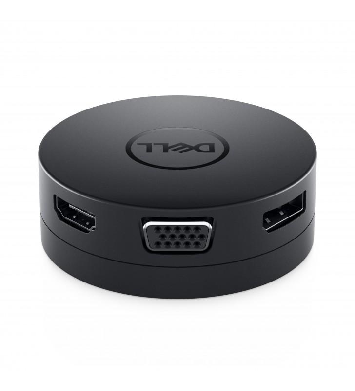 DELL DA300 Prin cablu USB 3.2 Gen 2 (3.1 Gen 2) Type-C Negru