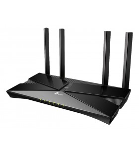 TP-LINK AX1800 router wireless Bandă dublă (2.4 GHz  5 GHz) Gigabit Ethernet Negru