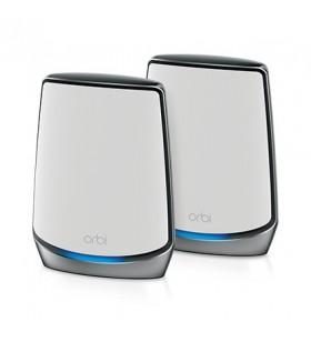 Netgear Orbi AX6000 router wireless Tri-band (2.4 GHz   5 GHz   5 GHz) Gigabit Ethernet Alb