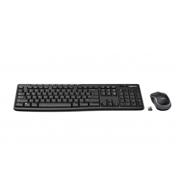 Logitech MK270 tastaturi RF fără fir AZERTY Franţuzesc Negru
