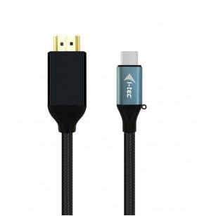 i-tec C31CBLHDMI60HZ2M adaptor pentru cabluri video 2 m USB tip-C HDMI Negru