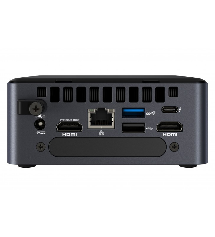Intel NUC BKNUC8V5PNH sistem barebone i5-8365U 1,6 GHz Dimensiune carcasă PC 0.69L Negru BGA 1528