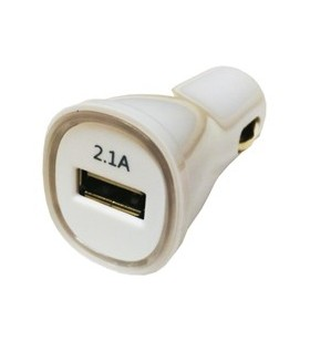 1X USB CAR CHARGER 2.1A/12/24V