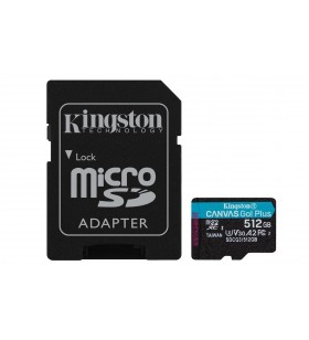 Kingston Technology Canvas Go! Plus memorii flash 512 Giga Bites MicroSD Clasa 10 UHS-I