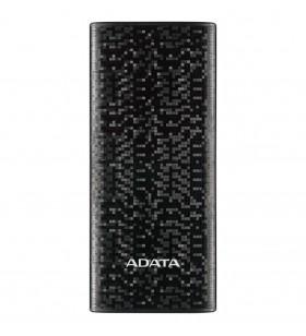 "POWER BANK ADATA 10000mAh, 2 x USB, 4 x LED pt. status baterie, P10000 10.000 mAh, total 2.1A out, black ""AP10000-DUSB-CBK"" (i"