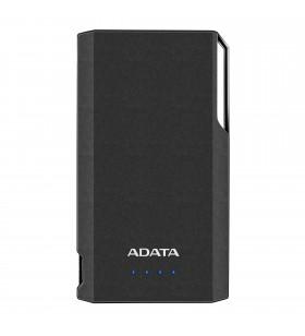 "POWER BANK ADATA 10000mAh, 2 x USB, 4 x LED pt. status baterie, S10000D LiPo 10.000 mAh, total 2.1A out, black ""AS10000-USBA-CB"