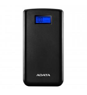 POWER BANK ADATA 20000mAh, 2 x USB, digital display pt. status baterie, S20000D LiPo 20.000 mAh, total 2.1A out, lanterna LED, b