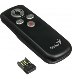 "PRESENTER wireless GENIUS ""Media Pointer 100"", 2.4 GHz, 10m, USB, negru ""31090015100"" (include timbru verde 0.1 lei)"